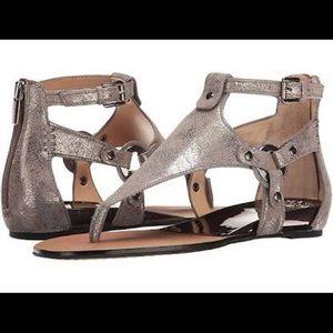 VINCE CAMUTO Averie Gunmetal Silver Sandals Size 6